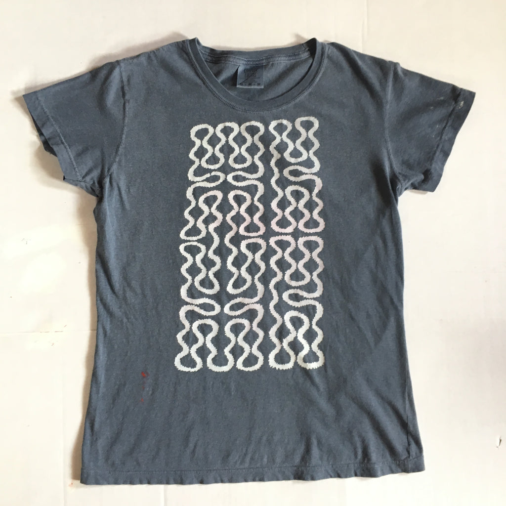 Nu Wave Wiggle Pattern Print T-Shirt - Women's