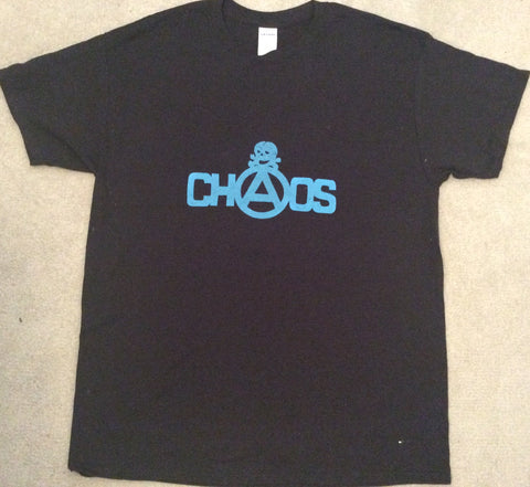 Chaos Skull Punk T-Shirt - Black Large 40""