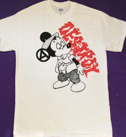 Mickey Drug Fix DESTROY T-shirt - Seditionaries Cartoon Punk Tee Sm-Med-Large