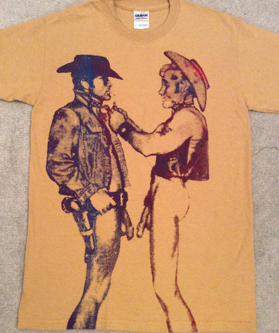 Naked Cowboys - Seditionaries Two Cowboys Punk T-shirt Sm 36""