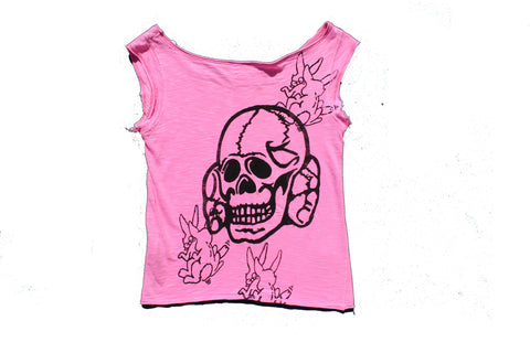 Seditionaries Skull vs Sex Bunnies Vest - Pink
