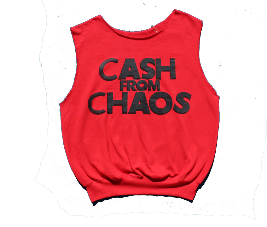 Cash from Chaos Red Sleeveless Sweater Top XL42""