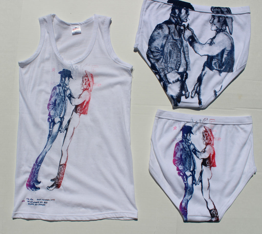 Naked Cowboys Set- Vest Top & Y Front Briefs -Small Print
