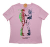 NAKED COWBOYS T-Shirt - Seditionaries Two Cowboys Punk Tee- Pink Fitted- UK 12-14