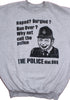 Viz Police Cartoon Punk Jumper - Grey
