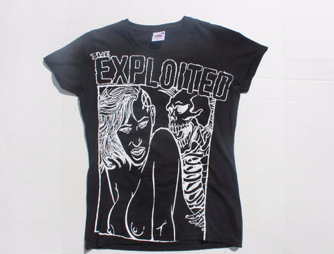 "The Exploited -Punk T shirt- Ladies Fitted Black Tee 32"" - 34"""