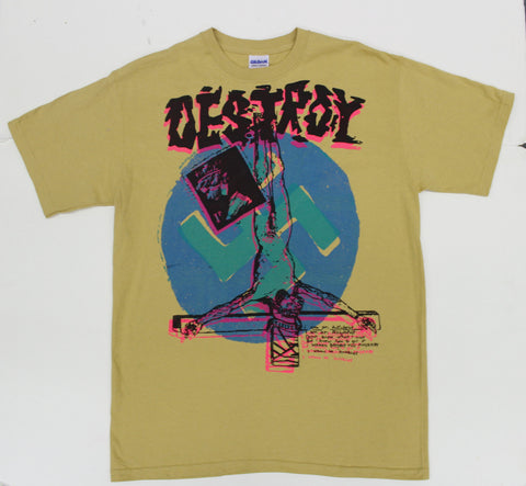 Seditionaries DESTROY T Shirt Mustard