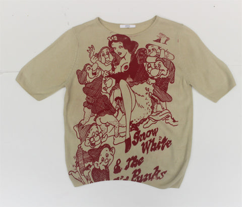 Snow White & Sic Punks Beige Sweater T-shirt