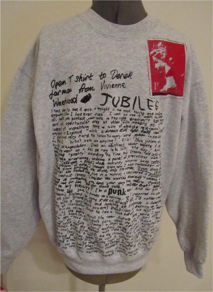 Westwood Jubilee Sweatshirt - Open T-shirt to Derek Jarman Jumper