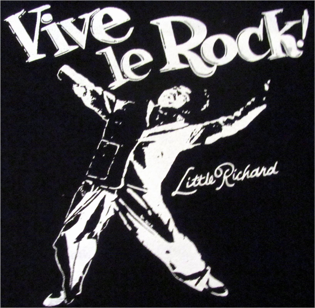 "Vive Le Rock Little Richard Punk T-shirt - Black fitted 32""-34"""