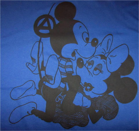 Mickey Mouse Sex Hoodie Shirt Cartoon Punk XL42""