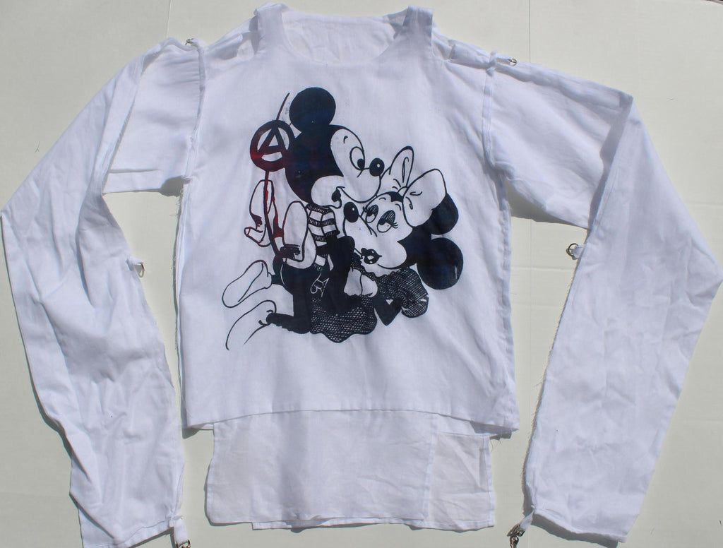 Mickey Mouse Sex Bondage Shirt Anarchist Straight Jacket- XSm 32-34""