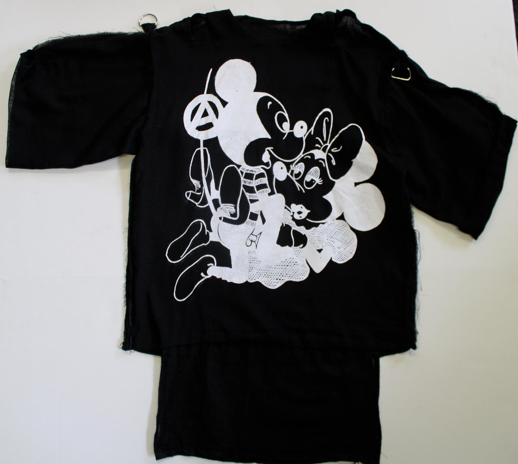 Mickey Sex -Short Sleeve Bondage Shirt Black muslin XSm 32""