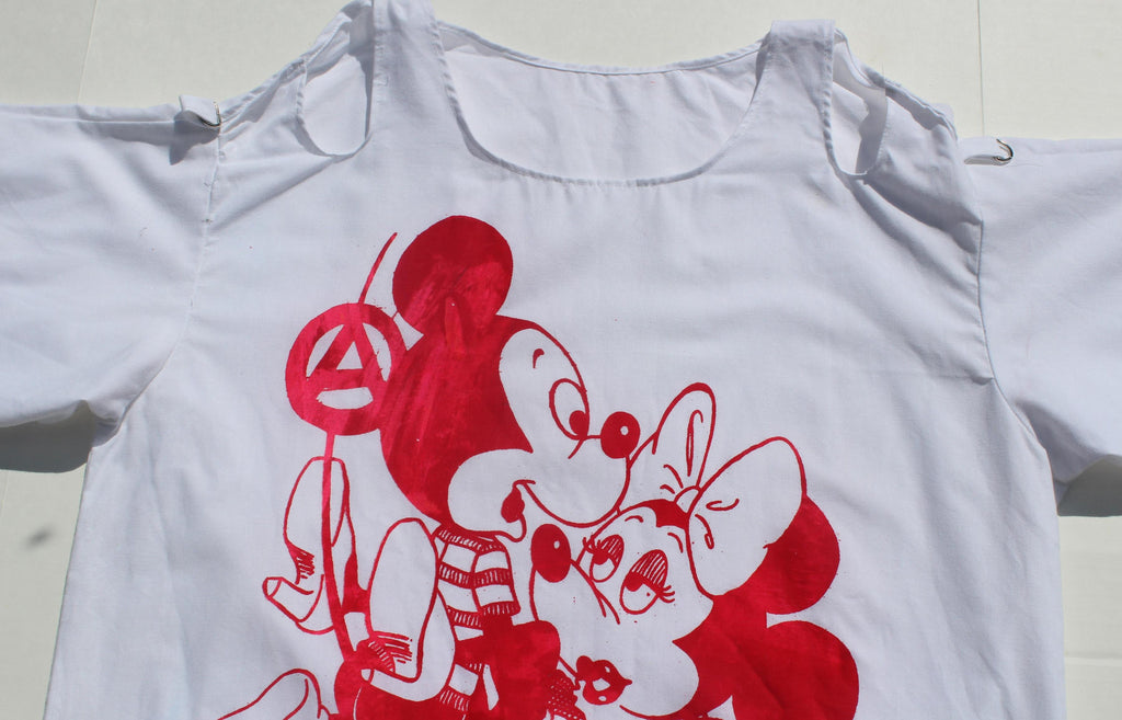 Mickey Mouse Sex -Short Sleeve Bondage Shirt Med 38""