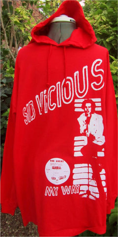 Sid Vicious My Way Red Hoodie Shirt