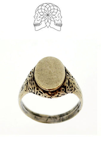Ornate Sterling Silver Signet Ring