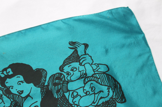 Snow White and the Sir Punks - Vintage Pocket Square - Teal