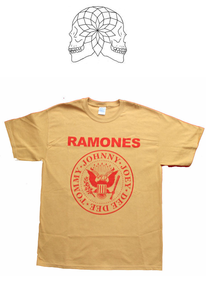 Ramones Punk band vintage T-shirt - Mustard Yellow