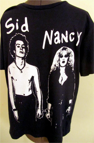 Sid Vicious and Nancy - Sex Pistols Punk Black T-shirt