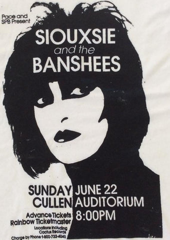 Siouxsie and the Banshees PuNk Gig print T-SHIRT - all sizes