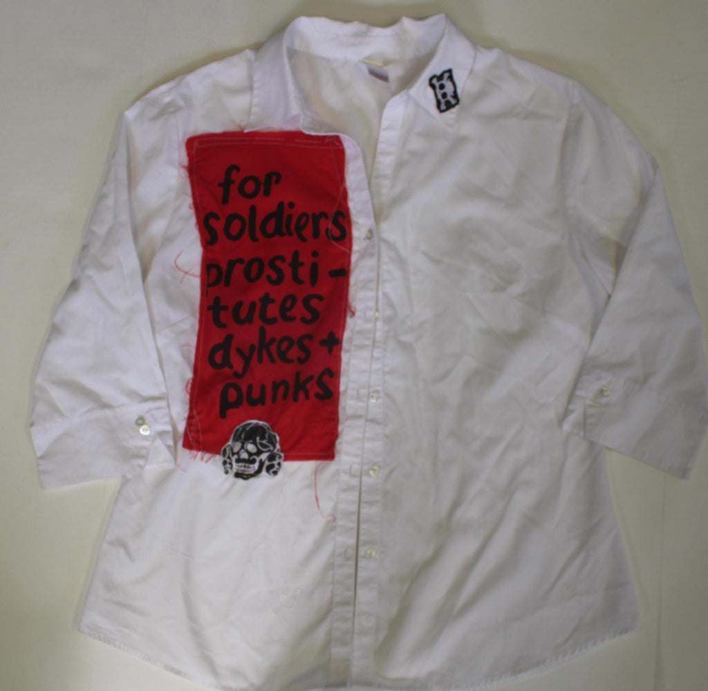 Seditionaries Soldiers Prostitutes Dykes & Punks Button-up Shirt 38""