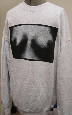 TITS SWEATSHIRT Punk Boobs Print Jumper Small 36""