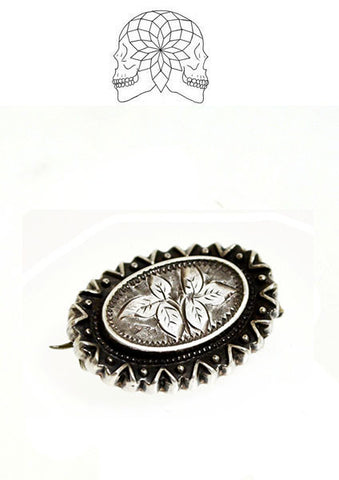 Victorian Sterling Silver Brooch - c.1890