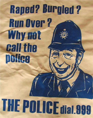 Novelty Kitchen Cloth - Viz 'Police' Cartoon Tea Towel