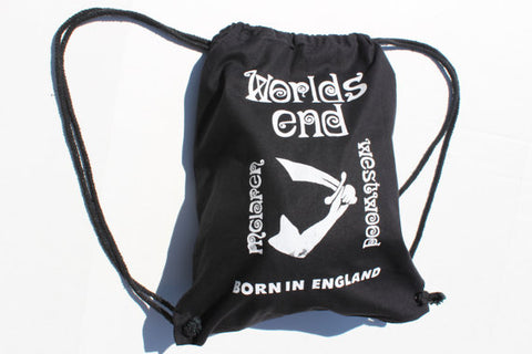 WORLDS END Bag-  -Westwood McLaren- Born in England-Backpack- Rucksack - Shoe Bag