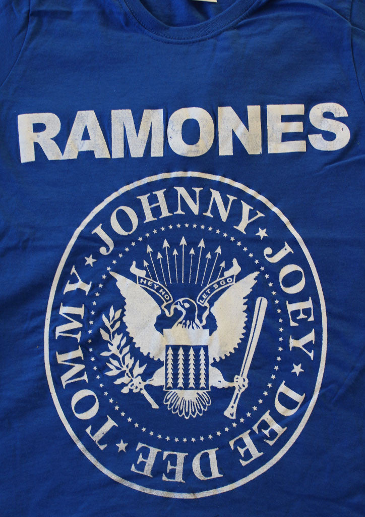 Ramones Punk band T-shirt -Blue