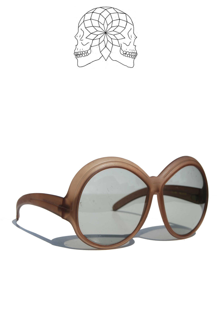 Vintage Brown Oversize Sunglasses