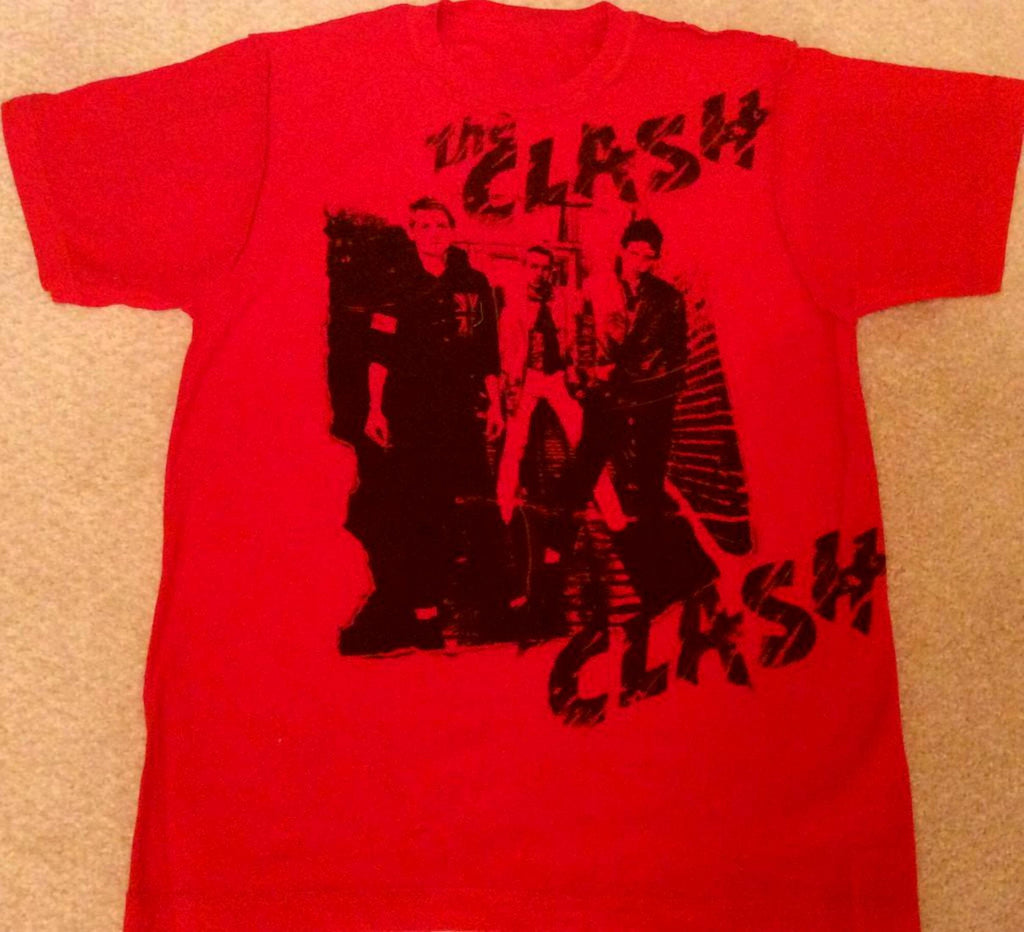 The Clash T-shirt -London Calling Red Tee Sm 36""