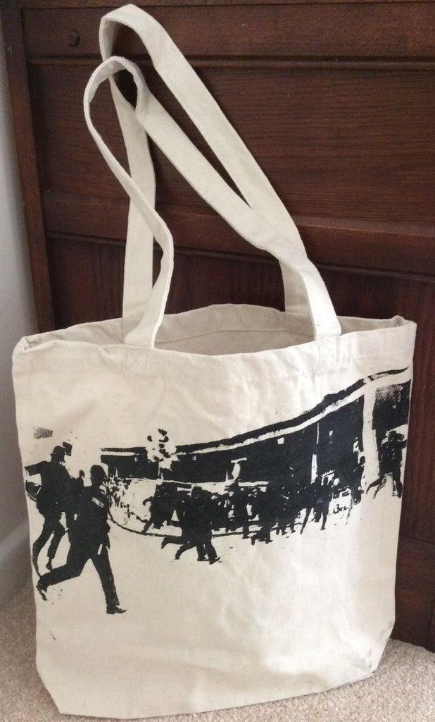 THE CLASH Punk BAG Brixton Riot London Police print - Canvas Shopper Tote