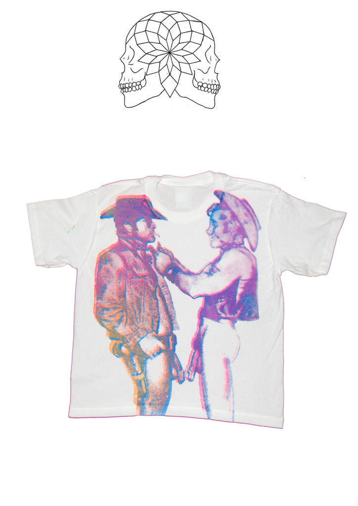 Naked Cowboys - Cropped Punk T-shirt petite Chest 26""