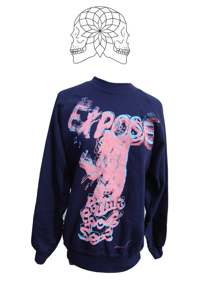 Expose King Kong Punk Rock Sex Navy Sweater Small 36""