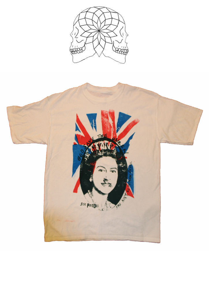 Sex Pistols God Save The Queen Flag- punk T-shirt