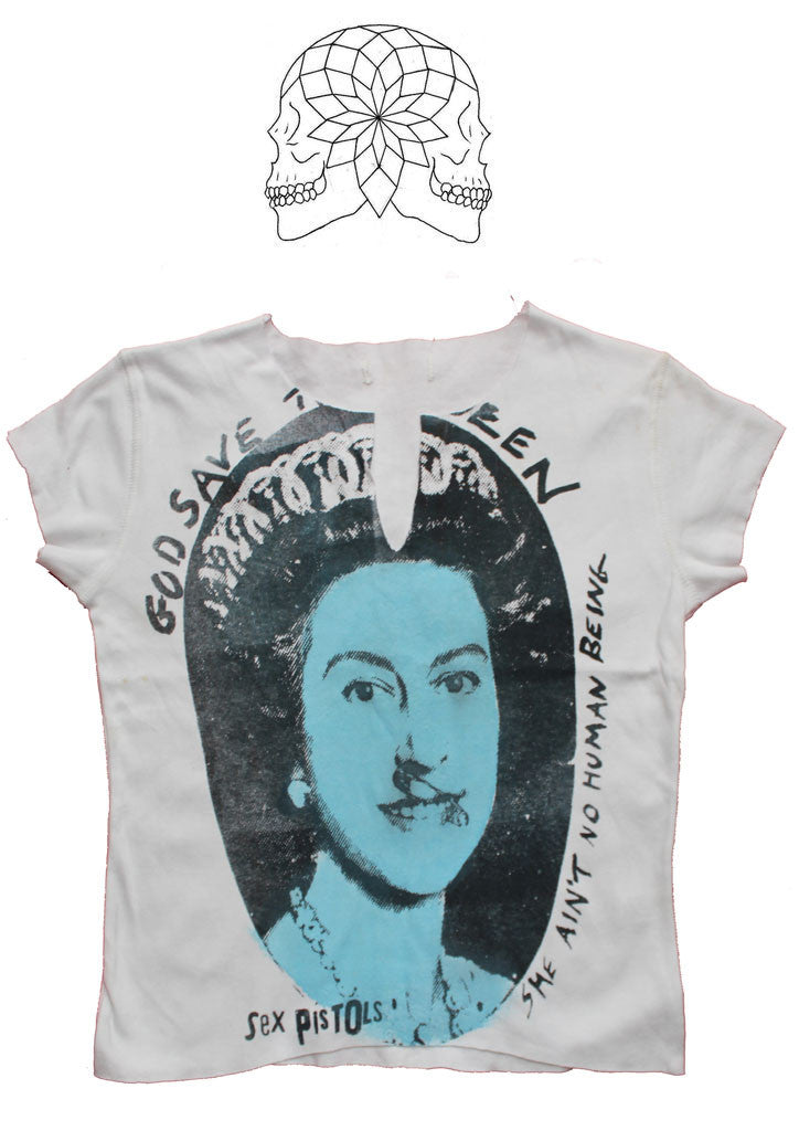 Sex Pistols God Save The (blue) Queen - Punk T-Shirt