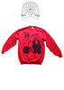 Sid Vicious and Nancy Handcuffs Print Red Sweater Large 40""