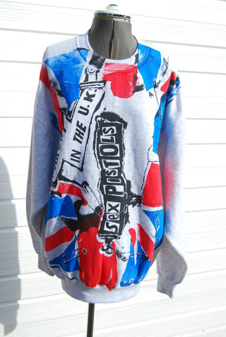 Sex Pistols Anarchy in the UK Sweater Punk Flag Jumper