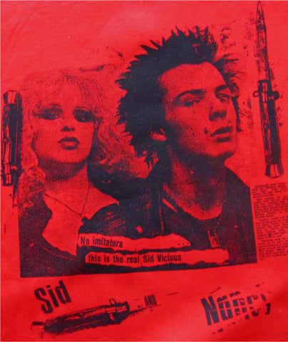 "Sid Vicious & Nancy Sweatshirt ""No Imitators"" Red Sweater"