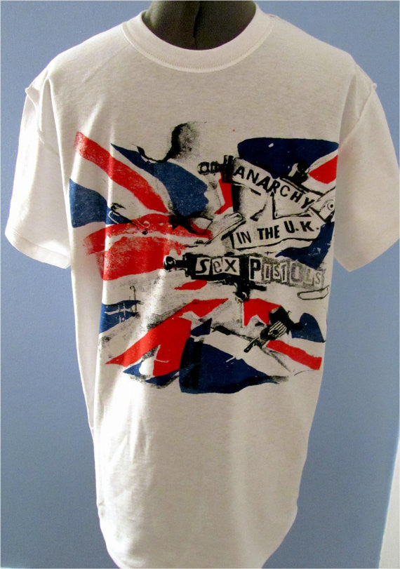 Anarchy In The UK T-Shirt Sex Pistols Punk Union Jack Flag