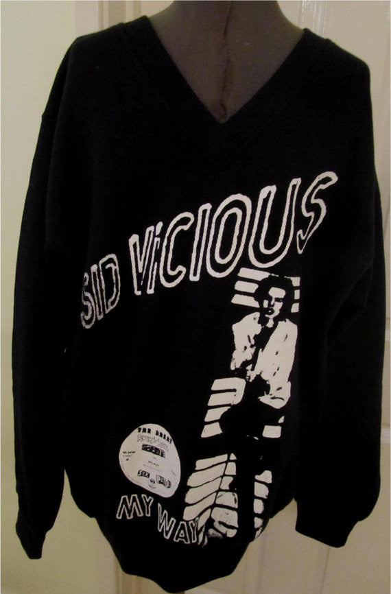 Sid Vicious Sweatshirt My Way Black Sweater