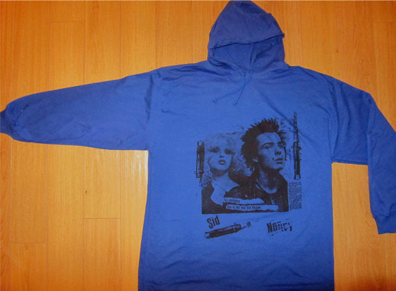 Sid Vicious & Nancy Hoodie Shirt No Imitators XL