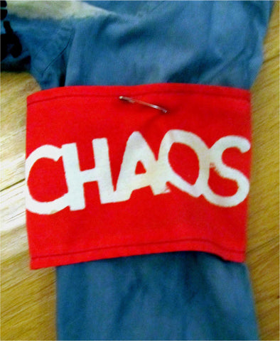 CHAOS ARMBAND Seditionaries Anarchist funeral arm band