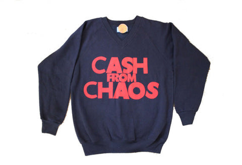 Cash from Chaos- Navy V-Neck Sweater