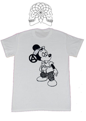 Seditionaries Mickey Mouse Junkie Drug Fix Punk T-shirt