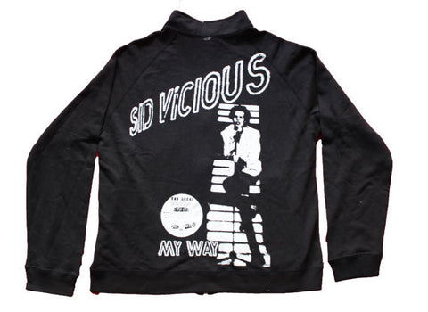Sid Vicious Zip Up Sweater My Way Black Jumper