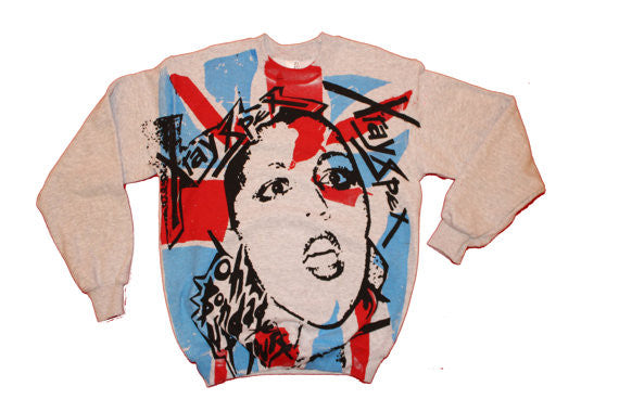 Xray Spex Sweatshirt Polly Styrene Bondage Up Yours Grey Sweater