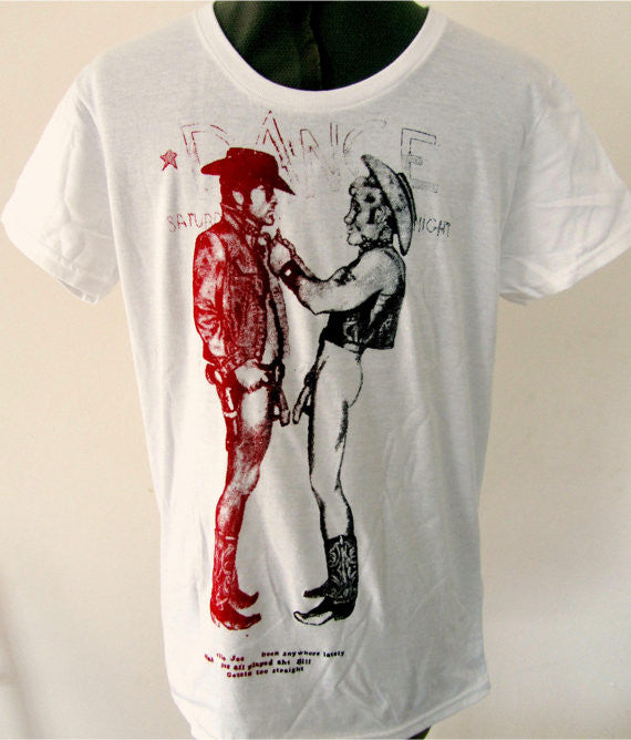 Seditionaries Two Naked Cowboys T-Shirt - Fitted Tees Sm-Med-L