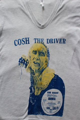 Cosh the Driver - Ronnie Biggs T-shirt -Rock & Roll Swindle Grey Tee Sm 36""